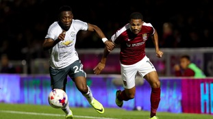 Northampton Town bow out of EFL cup despite brave Manchester United display