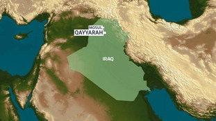 Qayyarah is around 50 miles south of Mosul.