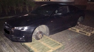 Police appeal after two Audi cars stripped during football match