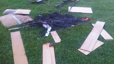 Illegal fire damage in Leicestershire