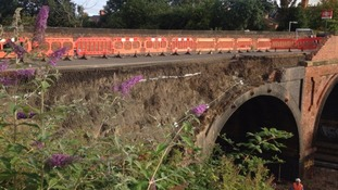 Collapsed bridge in Leicestershire to reopen next year