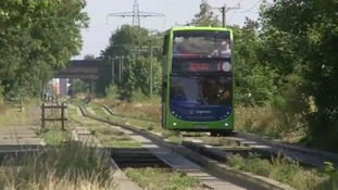 The existing guided busway in Cambridge.