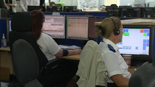 Cambridgeshire police control room.