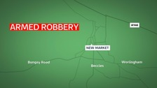 Armed robbery in Beccles.