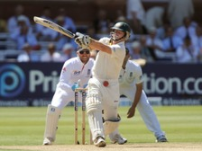 Chris Rogers in action for Australia
