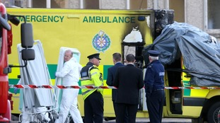 Patient dies in back of ambulance after it bursts into flames