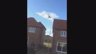 Watch: 'Alarming' moment teen leaps across rooftops in Darlington