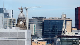 A general view of Leeds city centre