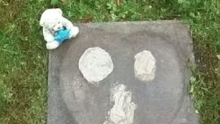 Grieving parents devastated after thieves take headstone from baby's grave