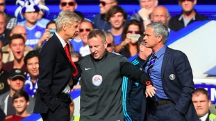 Arsenal manager Arsene Wenger silent on claims Man United boss Jose Mourinho threatened to 'break his face'