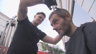 This barber gives homeless people free haircuts on the streets of Cardiff