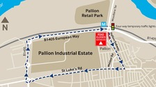 Map of Pallion