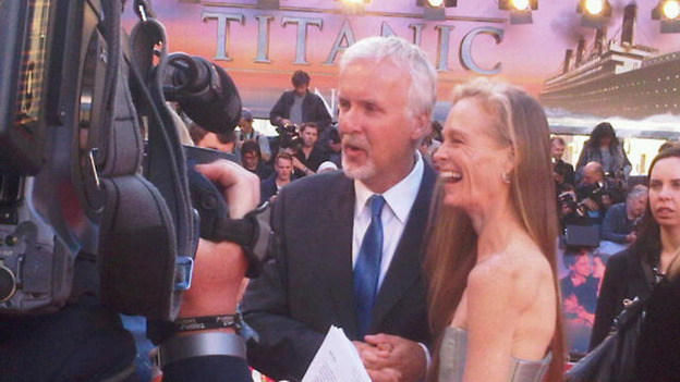 James Cameron and Suzy Amis arrive for Titanic in 3D premiere