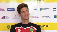 Timm Klose is happy at Norwich City.
