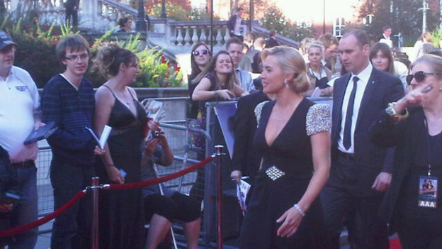 Kate Winslet appears at the premiere of Titanic in 3D, the film that shot her to critical acclaim