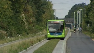 The new busway would link Cambridge and Cambourne and cost £142 million.