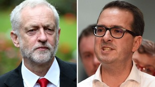 Labour leader Jeremy Corbyn and challenger Owen Smith