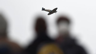 Spitfire flypast as Newark remembers Warsaw airmen