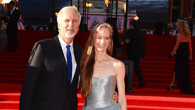 James Cameron and wife Suzy arrive for the World Premiere of Titanic 3D at the Royal Albert Hall,