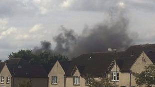 smoke from the farmland fire in Cirencester