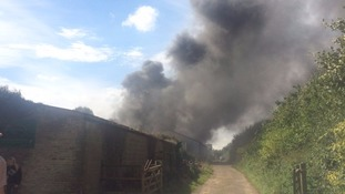 fire at Chesterton farm in Cirencester