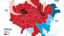 Map shows how Londoners are leaving capital.