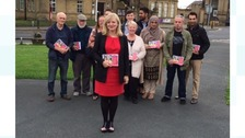 Tracy Brabin canvassing in Cleckheaton