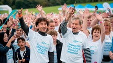 Emmerdale actor John Middleton at Leeds memory walk