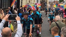 Cycling in memory of Viola Beach guitarist River Reeves
