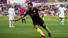 Disappointment for Swansea as Aguero strikes twice
