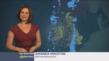 Weather: Cloud and outbreaks of rain ease away during the morning