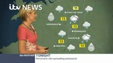 Your evening weather forecast with Helen Plint.