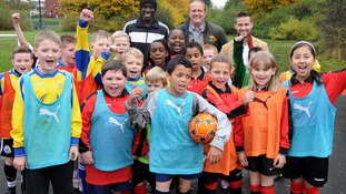 Newcastle players help coach school children