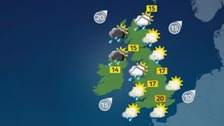 Weather: A mixture of sunny spells and blustery showers