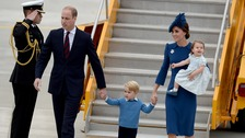 William and Kate begin first tour with children in Canada