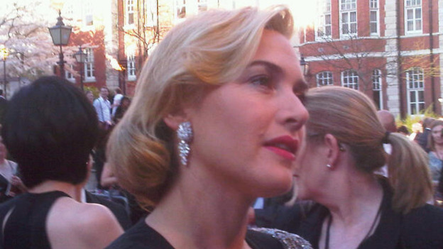 KAte Winslet speak to ITV&#x27;s Nina Nannar