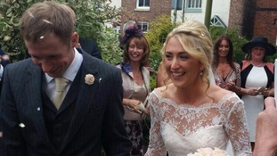 Olympic golden couple get married