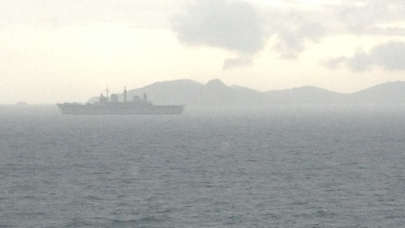 HMS Illustrious seen from HMS Bulwark