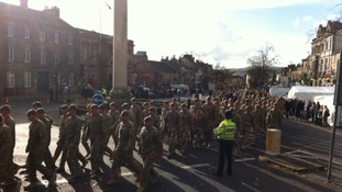 Yorks 3 regiment funeral thursby