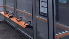 Human poo found at bus stop