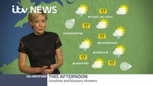 Your afternoon weather forecast with Helen Plint.