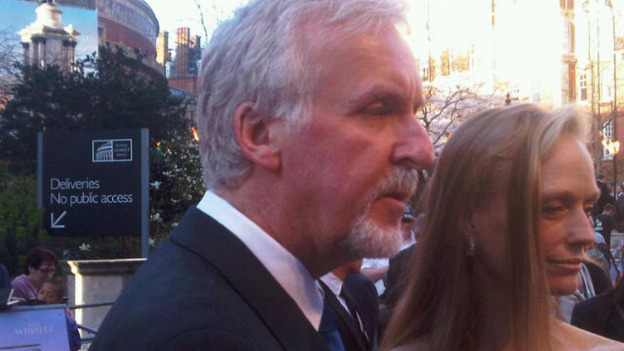 James Cameron speaks to ITV&#x27;s Nina Nannar