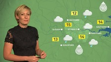 Weather: Some sunny spells and scattered showers after rain clears.