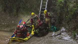 Dramatic pictures of man rescued from Bristol river