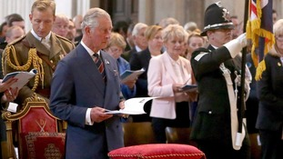 Prince Charles leads tributes to fallen officers at National Police Memorial Day service