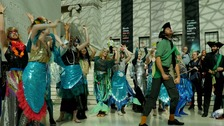 Protest over BP at British Museum 'summons the Kraken'.