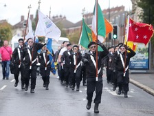 An Easter Rising parade has passed off peacefully in Belfast.