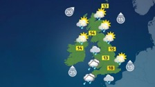 Weather: Rain will spread northeastwards through today