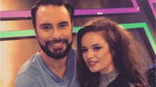 Samantha Lavery with ITV presenter Rylan