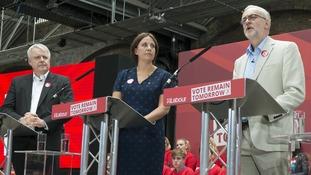 Carwyn Jones, Kezia Dugdale and Jeremy Corbyn